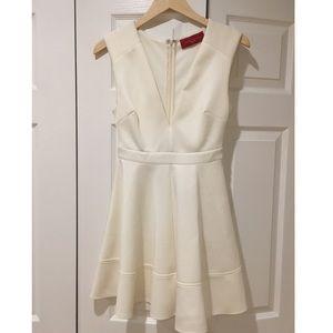 AKIRA Ivory Skater Short Mini Dress